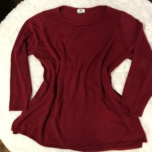 Old Navy Classic Cranberry Pullover Sweater 3XPlus